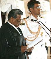 Justice S Rajendra Babu (L)
