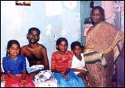 Ganapathy with his wife and children