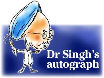 Dr Singh's autograph