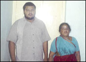 Sankararaman's wife and son