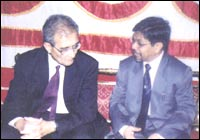 With Nobel Prize winner Amartya Sen