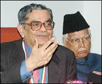 Professor Bhagwati with Natwar Singh
