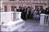 Prime Minister Manmohan Singh at Babur's tomb in Afghanistan