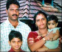 Maniappan Kutty with his family