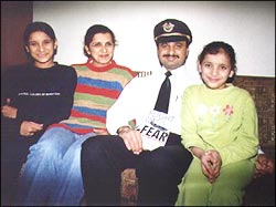 Captain Devi Saran with his family