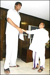 Vikas with Andhra Pradesh Chief Minister Dr Y S Rajasekhar Reddy
