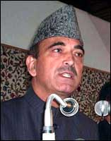 Union Minister Ghulam Nabi Azad will take over as Jammu and Kashmir chief minister on November 2. Photo: UNI