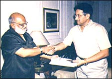 The author with Pakistan President General Pervez Musharraf