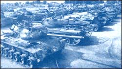 Damaged and captured Pakistani tanks at Khem Karan, near Amritsar