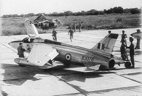 A Gnat being readied for take off. Photograph courtesy: Bharat Rakshak