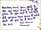 An NRI's message on a poster