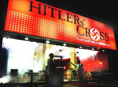 Hitler's Cross restaurant ran into a trouble because of its name and the swastika symbol it used