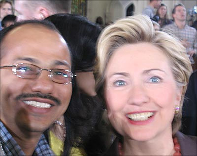Reader Tarendra with New York Senator Hillary Clinton