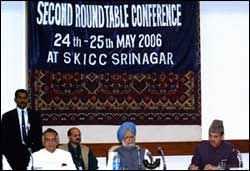 PM Singh at the conference