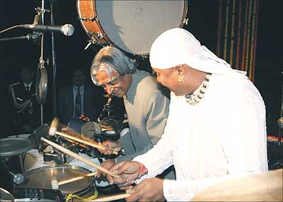 President Kalam with Sivamani
