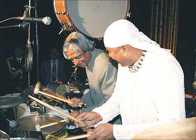President Kalam with Sivamani