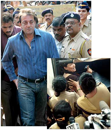 Sanjay Dutt arrives at the TAFDA court.