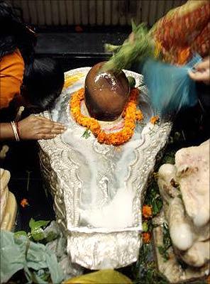 Devotees celebrating Mahashivratri