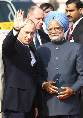 Putin with Dr Singh
