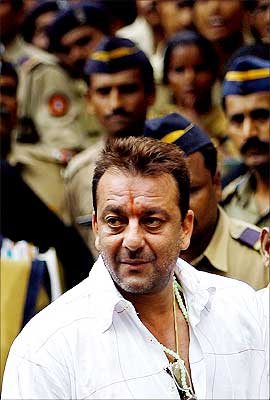 Sanjay Dutt, just before he was sentenced to six years in jail.