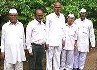 Upset farmers from Maval village