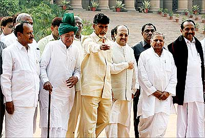 Leaders of the Third Front in the Rashtrapati Bhavan