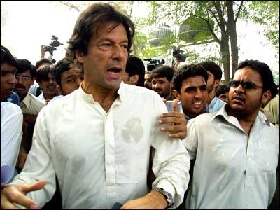 Imran Khan when he was arrested
