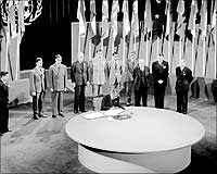 UN Charter being signed in 1945