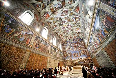 A view of the magnificent Sistine Chapel