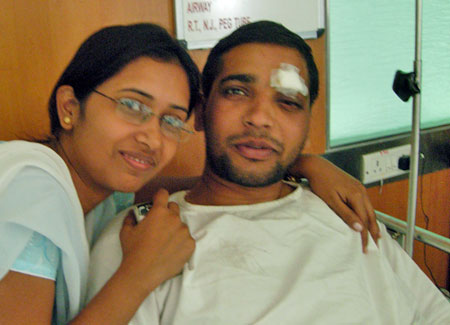 Captain A K Singh with fiancee Madhu