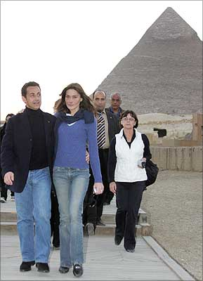 Nicholas Sarkozy with Carla Bruni