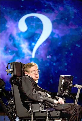 A file photograph of Professor Stephen Hawking at the George Washington University in Washington, DC.