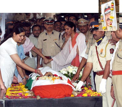 Funeral of ATS cheif Hemant Karkare