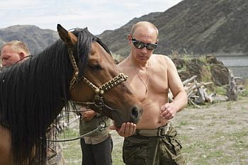 Putin on vacation in southern Siberia