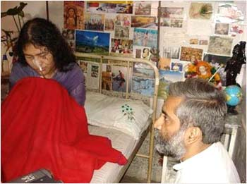 Irom Sharmila with Magsaysay Award winner Sandeep Pandey