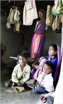 Inside a tribal hut in Melghat