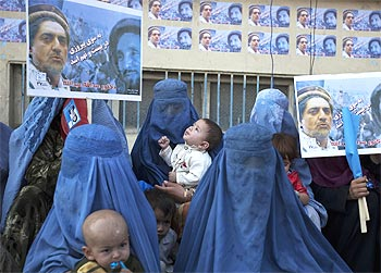 A scene from the campaign in Kabul.
