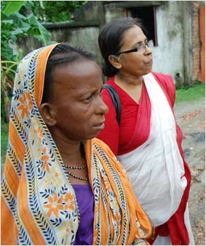 Harani, whose life changed because of Nishtha, with Mina Das.