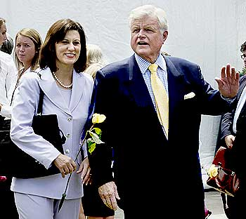 Ted Kennedy with his wife Victoria