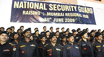 National Security Guard commandos during the opening of their new hub in Mumbai