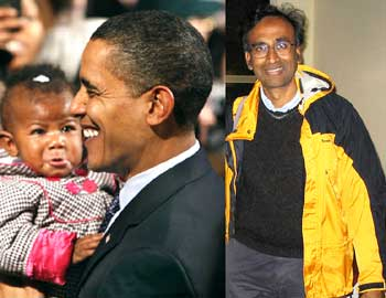 2009 Nobel Prize winners US President Barack Obama and Venkatraman Ramakrishnan