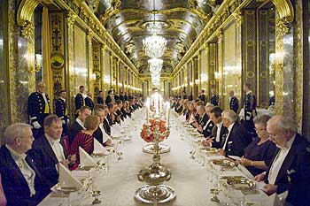 A file photograph of the Nobel Banquet