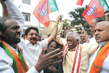 Telangana activists celebrate in Hyderabad
