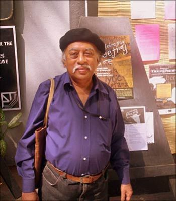 Dilip Chitre at the Prithvi theatre during the 2007 Kitab festival in Mumbai