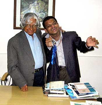 Siddarth with former President Dr APJ Abdul Kalam