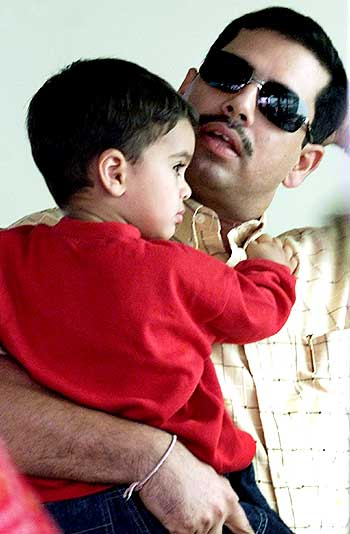 Robert Vadra with his son Rehan