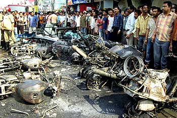 The blast site in Guwahati