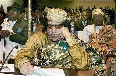 Colonel Muammar Gaddafi, Libyan President & New African Union Head