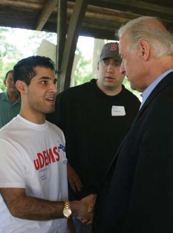 Atul Nakhasi with Vice President-elect Joe Biden