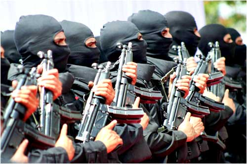 NSG Commandos gave a glimpse of their striking presence at the inauguration of their regional centre in Hyderabad, on Wednesday